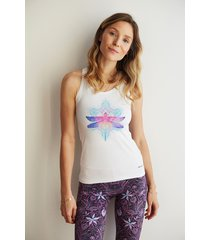 bright boho tank top dragonfly