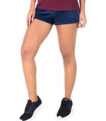 shorts fila plush taped - feminino - azul escuro