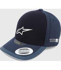 gorra azul navy-blanco alpinestars