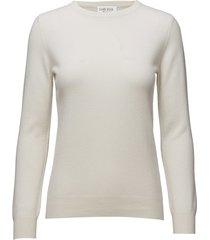 basic sweater stickad tröja vit davida cashmere