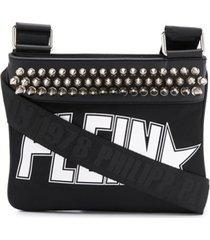 philipp plein bolsa tiracolo com logo - preto