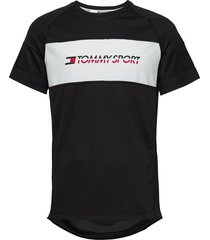 performance mesh tee t-shirts short-sleeved svart tommy sport