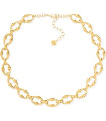"""alfani gold-tone sculptural link collar necklace, 17"""" + 2"""" extender, created for macy's"""