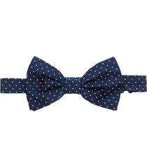 lady anne pin-dot bow tie - blue