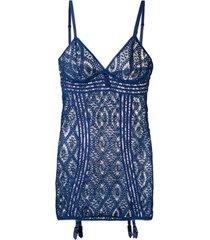 else vestido de crochê - azul