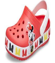 sandã¡lia crocs fl bnd vermelho - vermelho - menina - dafiti