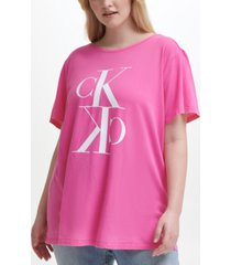 calvin klein jeans trendy plus size cotton logo t-shirt