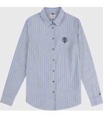 camisa azul-blanco-gris tommy hilfiger