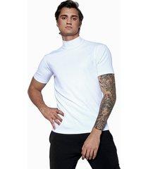 camiseta synchron bã¡sica canelada branca - branco - masculino - viscose - dafiti