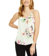 bar iii floral print camisole top, created for macy's