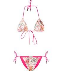 etro reversible style bikini - neutrals