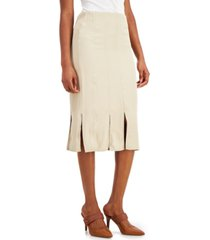 alfani petite carwash-hem midi skirt, created for macy's