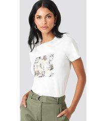na-kd collage t-shirt - white