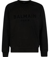 balmain logo detail sweatshirt