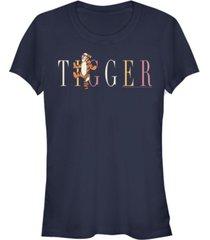 fifth sun juniors winnie the pooh tigger fashion short sleeve t-shirt