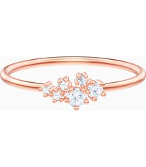 anello penã©lope cruz moonsun, bianco, placcato oro rosa
