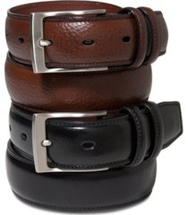 perry ellis portfolio men's leather belt