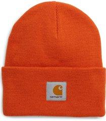 men's carhartt work in progress watch hat - orange