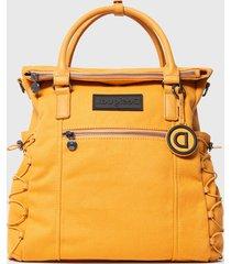 mochila loverback amarillo desigual