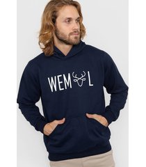 buzo azul wemül hoodie
