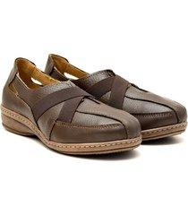 zapato de cuero marrón valentia calzados roma