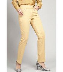 pantalón pitillo mujer gabardina mostaza elemental liola