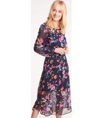 szyfonowa sukienka midi lokka