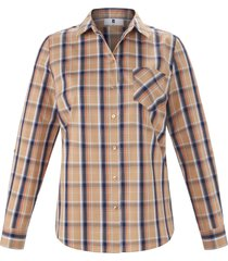 blouse 100% katoen lange mouwen van anna aura beige