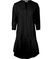 jurk high-low zoom katoenen