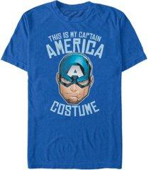 marvel men's avengers captain america halloween costume short sleeve t-shirt