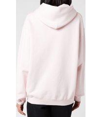 alexander wang women's garment washed hoodie with wang puff print - primrose pink - m
