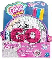 bolso redondo color me mine 41307-multicolor