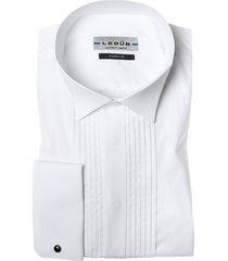 ledub smoking shirt wit plissé modern fit