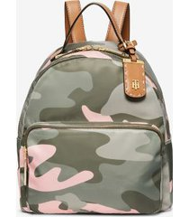 tommy hilfiger women's recycled camo backpack pink/green -