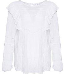 noella farrah blouse white