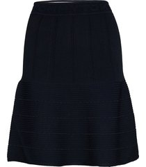 nataly pointelle skt knälång kjol blå tommy hilfiger