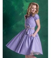 sukienka szmizjerka rozkloszowana