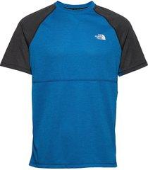 m varuna s/s tee t-shirts short-sleeved blå the north face