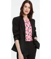 blazer feminino botões manga longa marisa