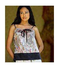 silk blouse, 'summer jewel' (indonesia)