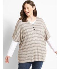 lane bryant women's hooded knit poncho 18/20 space dye