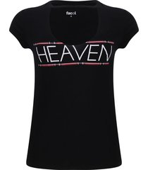 camiseta cuello choker color negro, talla 8