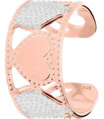 anello regolabile in bronzo rosato con cuori bicolore per donna