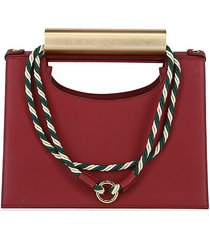 d'estree women's wade leather top handle shoulder bag - red