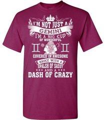 i'm not just a gemini t-shirt