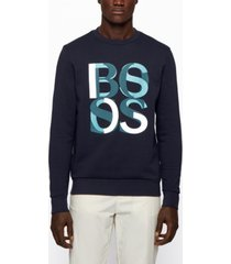 boss men's stadler french-terry sweatshirt