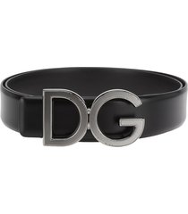 dolce & gabbana dolce & gabbana calfskin belt witg dg logo