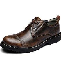 scarpe casual con lacci da uomo basse in pelle di mucca color retro