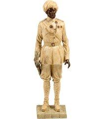 escultura decorativa de resina indiano dinesh
