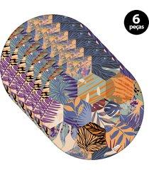 capa para sousplat mdecore ornamental chumbo 6pã§s - cinza - dafiti